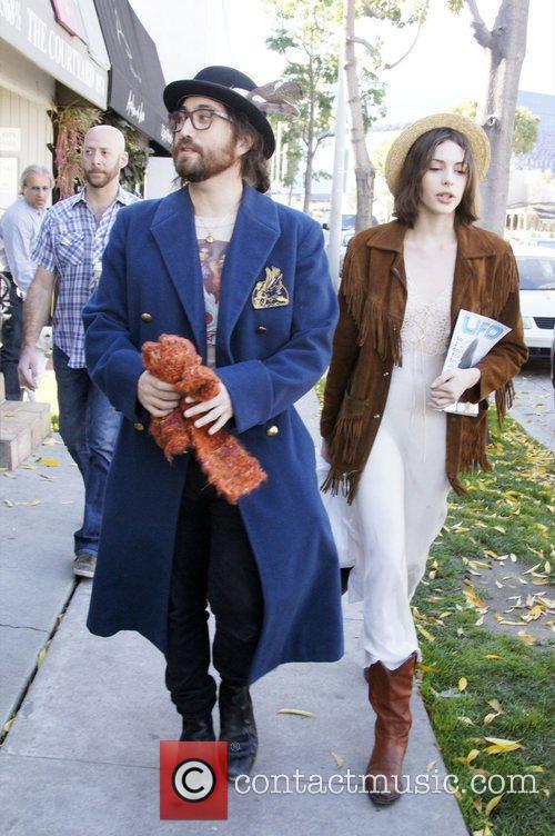 Sean Lennon and his girlfriend Charlotte Kemp Muhl...
