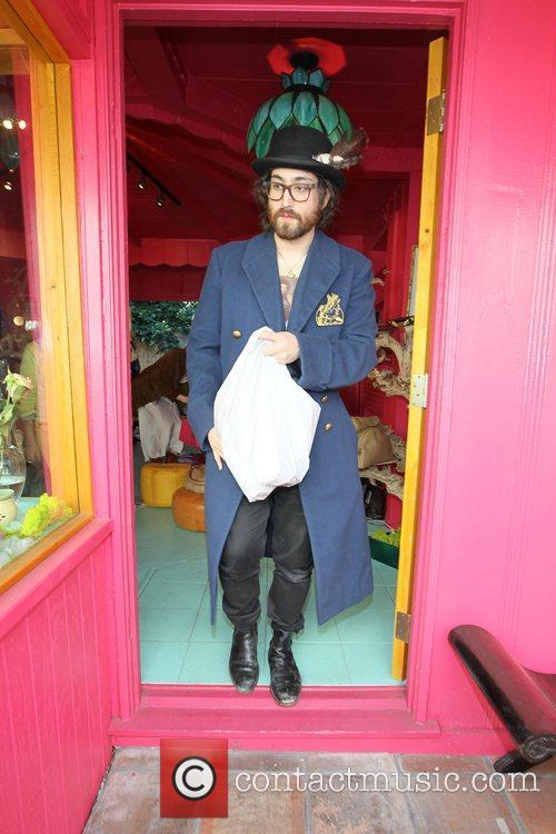 Sean Lennon  shopping with his girlfriend at...