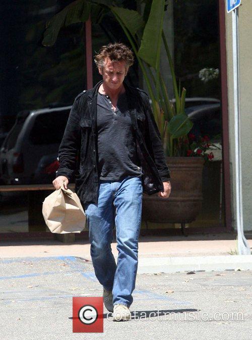 Sean Penn is seen leaving Malibu Ranch Market...