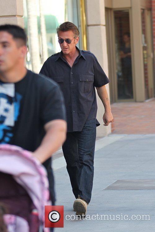 Sean Penn arriving at a medical centre in...