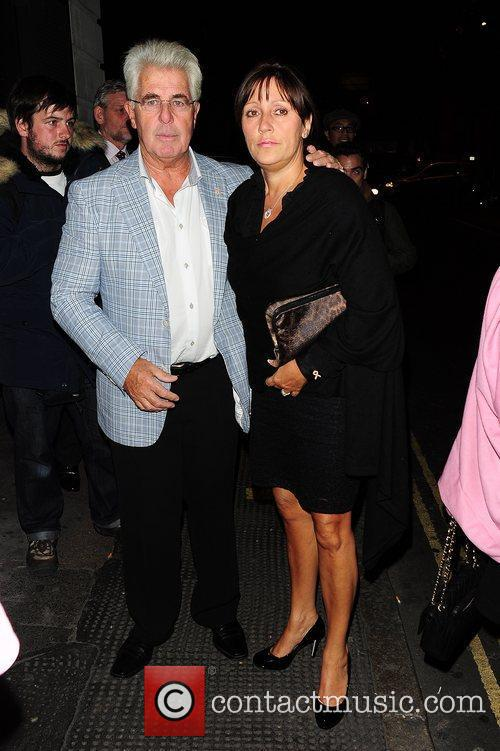 Max Cliford and guest outside Secrets Club London,...