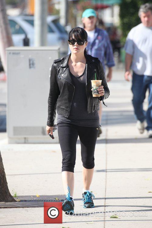 Selma Blair  out getting a coffee in...