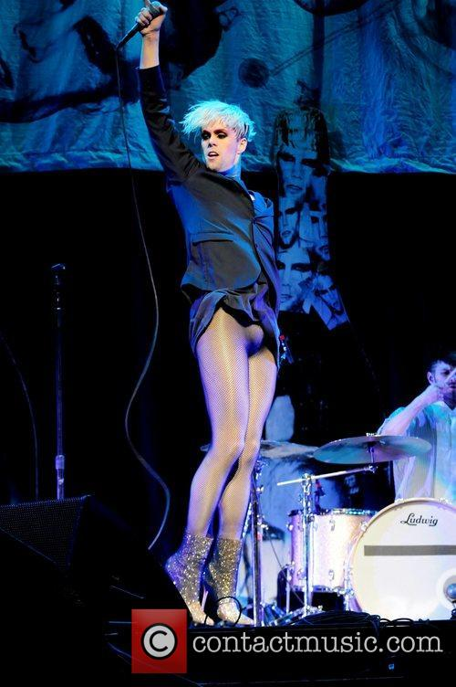 Semi Precious Weapons performs as the opening act...