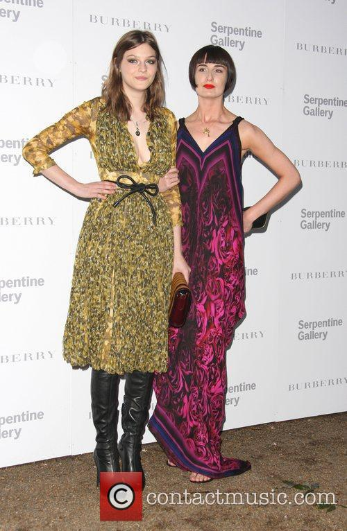 Erin O'Connor and Amber Anderson Burberry Serpentine Summer...
