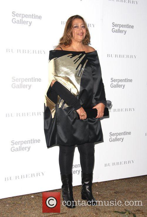 Zaha Hadid Burberry Serpentine Summer party 2011 held...
