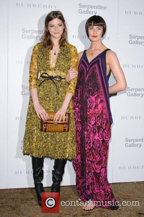 Amber Anderson and Erin O'Connor Burberry Serpentine Summer...