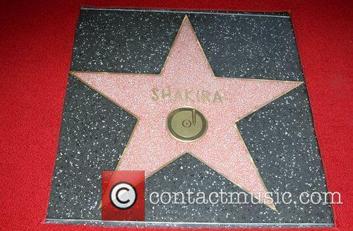 Shakira is honoured with a Star on the...