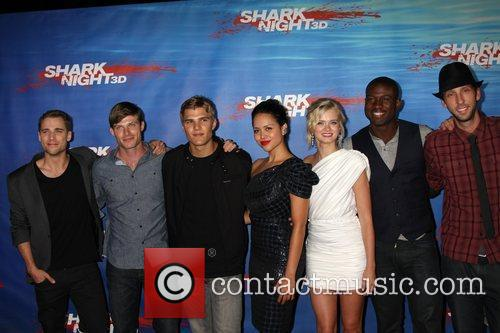 Dustin Milligan, Chris Carmack, Chris Zylka, Joel David Moore and Sara Paxton 1