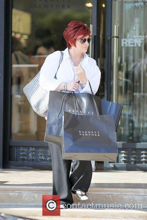 Sharon Osbourne shopping at Barney's Of New York...