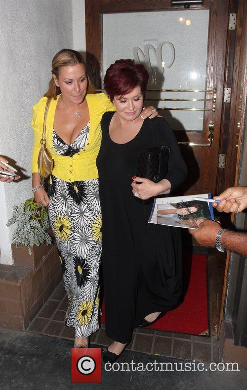 Sharon Osbourne and singer Anastacia leaving Madeo's after...