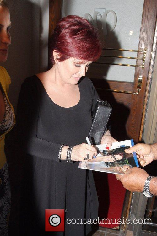 Sharon Osbourne and a friend leave Madeo's after...