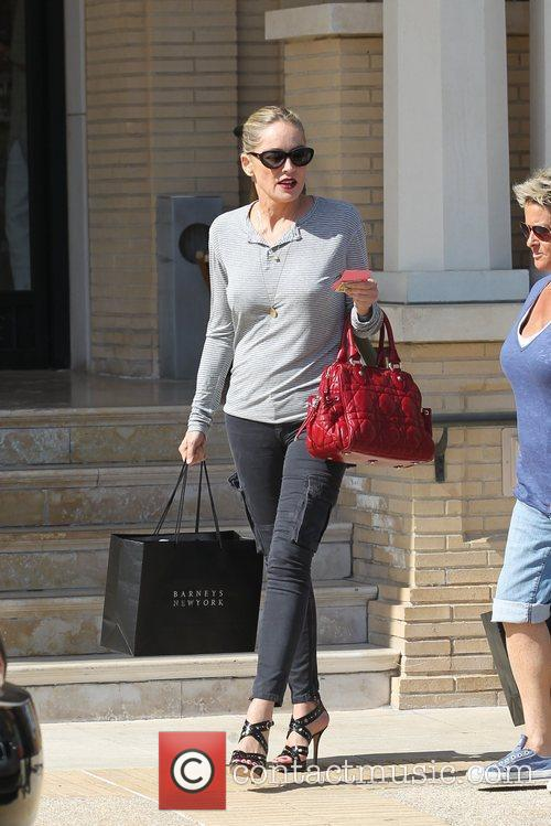 Sharon Stone  leaving Barneys New York in...
