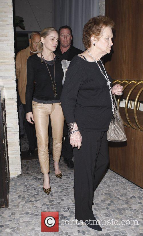 Sharon Stone leaves Red O restaurant in Beverly...