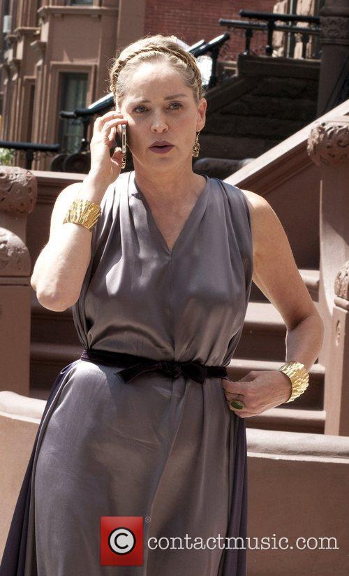 Sharon Stone on the set of Gods Behaving...