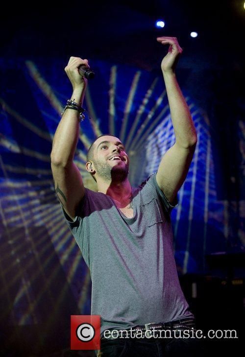 Shayne Ward performing live at the O2 Shepherds...