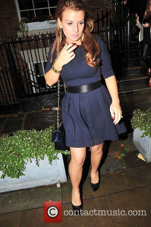 Coleen Rooney at farewell party for former Emmerdale...
