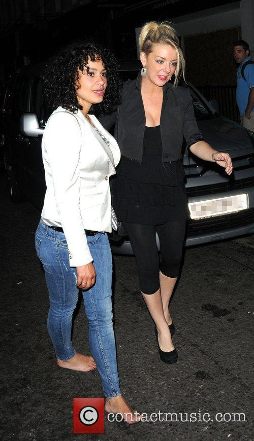 Sheridan Smith leaves The Groucho Club in Soho...