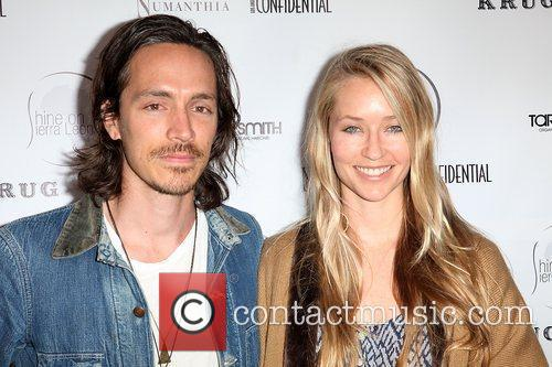 Incubus vocalist Brandon Boyd (L) and actress Baelyn...