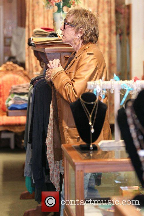 Shirley MacLaine shopping at Victorian Rose boutique in...