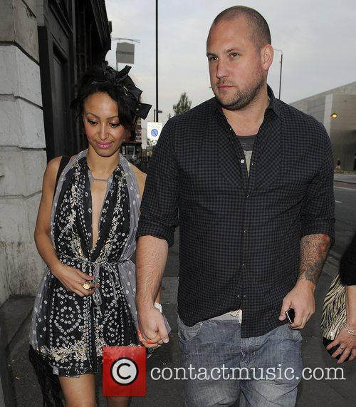 Amelle Berrabah and her boyfriend arriving at Shoreditch...