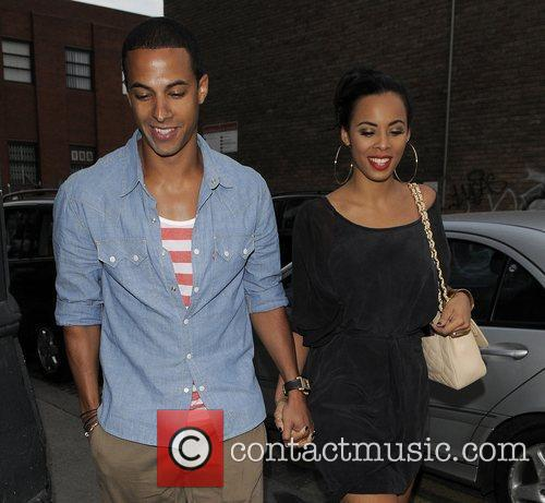 Marvin Humes of boyband 'JLS' and girlfriend Rochelle...