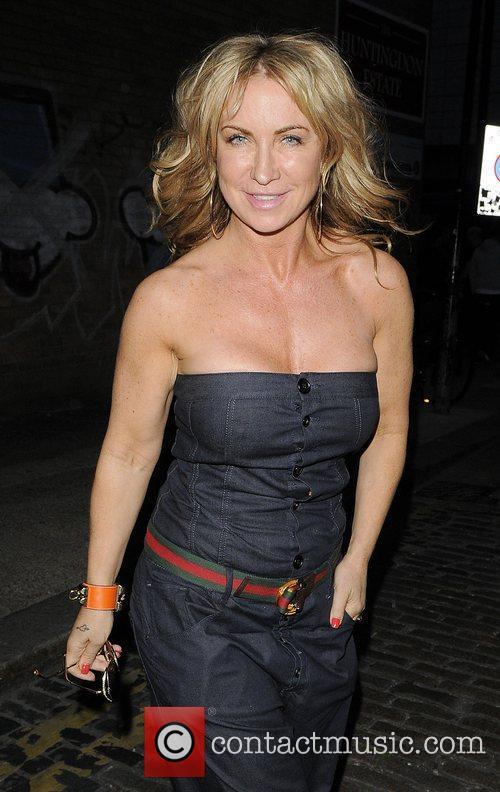 Meg Matthews arriving at Shoreditch House.