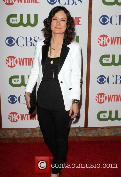Sara Gilbert CBS,The CW And Showtime TCA Party...