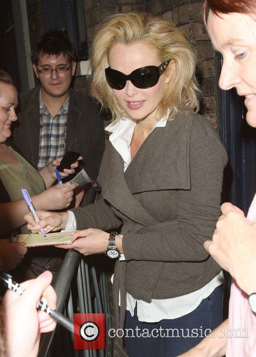 Amanda Holden leaves the Theatre Royal Drury Lane...