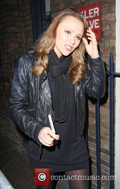 Kimberley Walsh leaves the Theatre Royal after her...