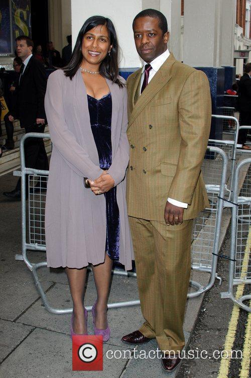 Lolita Chakrabarti and Adrian Lester 'Shrek the Musical'...
