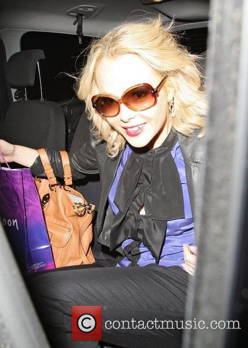 Amanda Holden leaving the Theatre Royal Drury Lane...