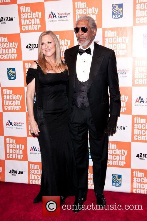 Lori McCreary and Morgan Freeman Lincoln Center Film...