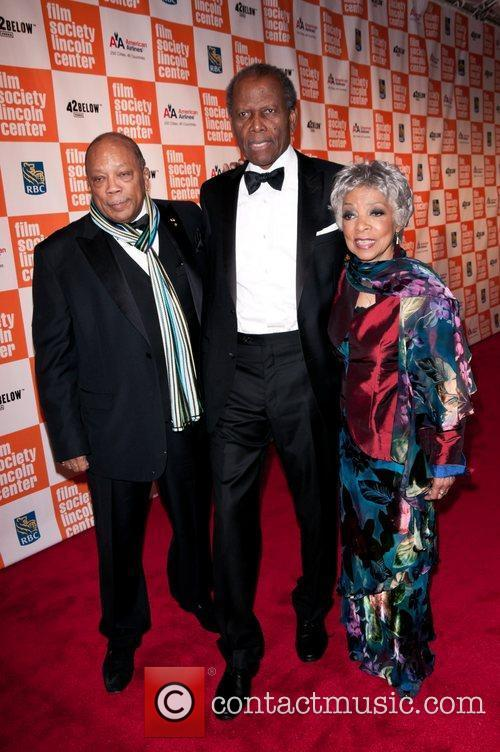 Quincy Jones, Sydney Poitier and Ruby Dee Lincoln...