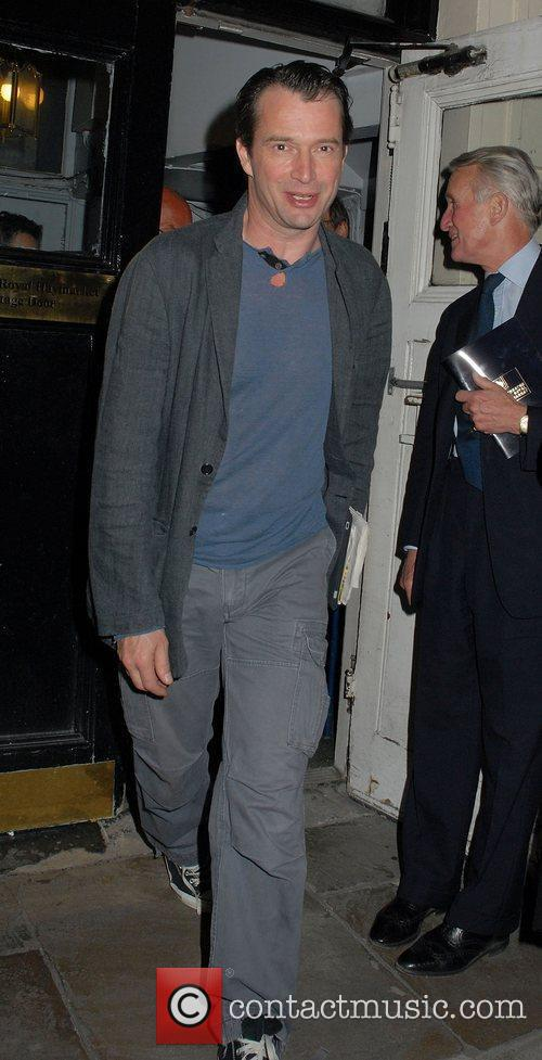 James Purefoy leaving The Royal Haymarket Theatre after...