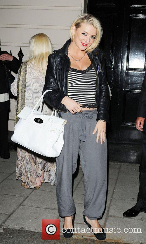 Sheridan Smith leaving The Royal Haymarket Theatre after...