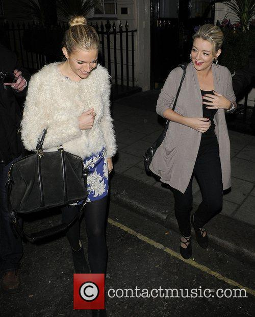 Sienna Miller and Sheridan Smith leaving the Theatre...