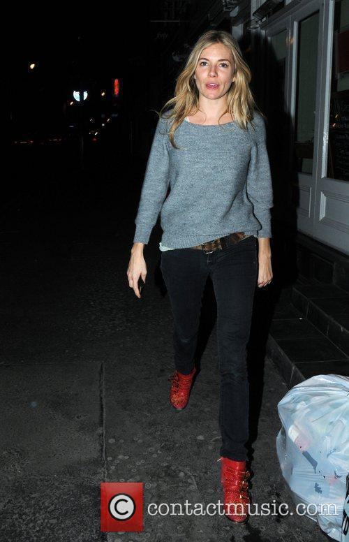 Sienna Miller at the Groucho club in Soho