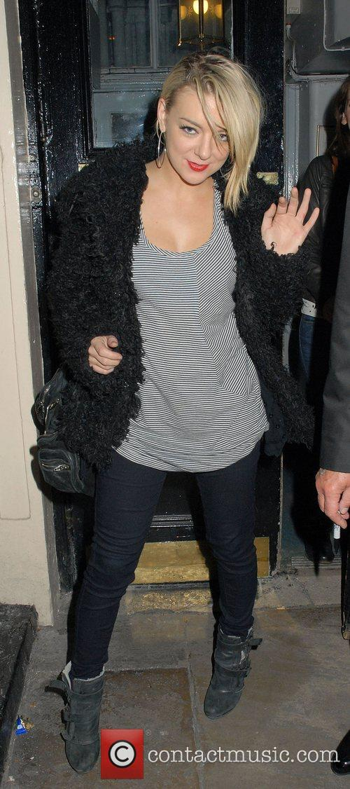 Sheridan Smith leaving the Theatre Royal Haymarket after...