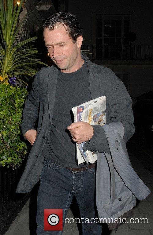 Leaving The Royal Haymarket Theatre after the production...