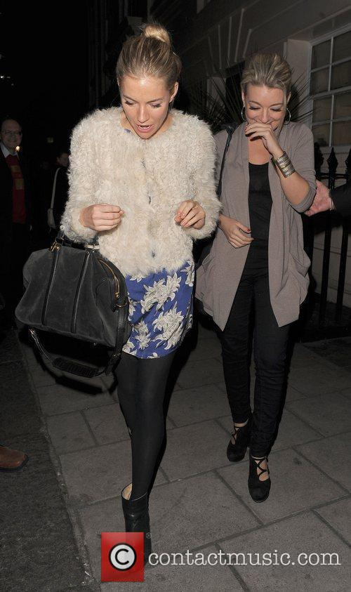 Sienna Miller and Sheridan Smith leaving the Haymarket...