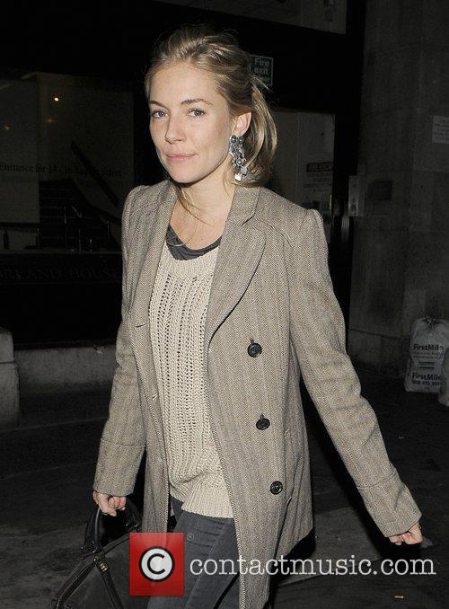 Sienna Miller leaving a pub in the West...