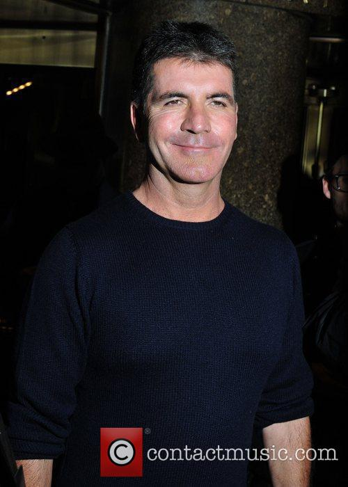 Simon Cowell outside NBC studios for an appearance...