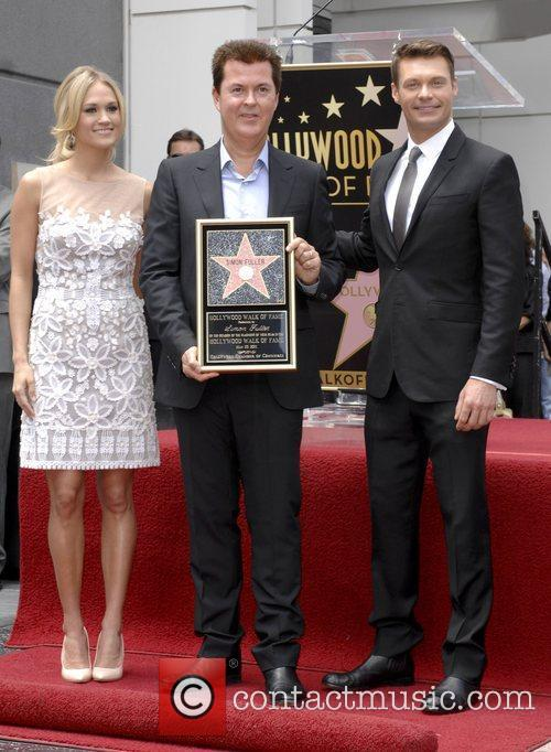 Carrie Underwood, Ryan Seacrest and Simon Fuller 4