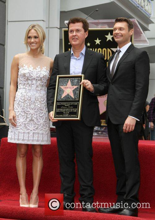 Carrie Underwood, Ryan Seacrest and Simon Fuller 11