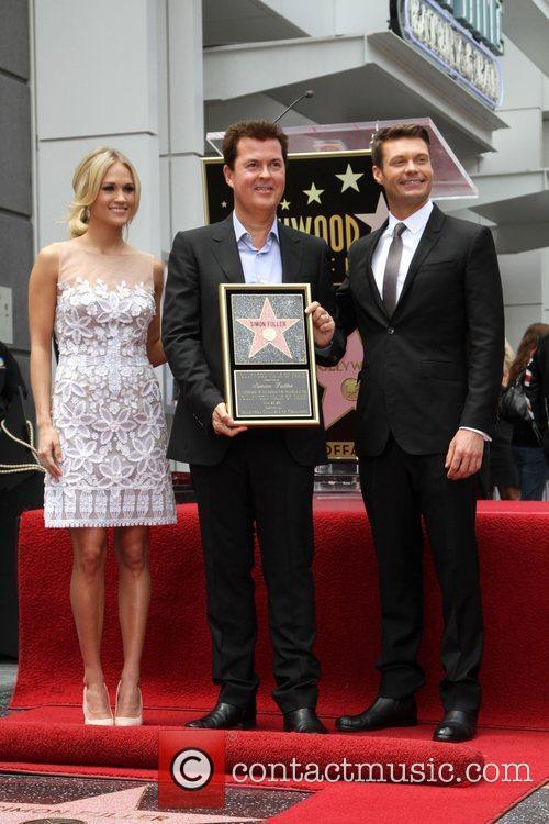 Carrie Underwood, Ryan Seacrest and Simon Fuller 7
