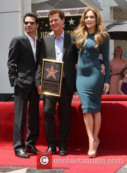 Marc Anthony, Jennifer Lopez and Simon Fuller 2