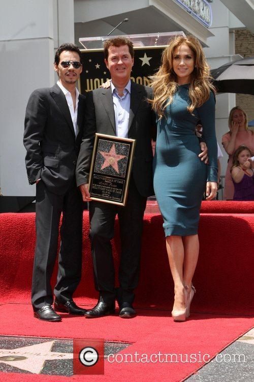 Marc Anthony, Jennifer Lopez, Simon Fuller, Star On The Hollywood Walk Of Fame