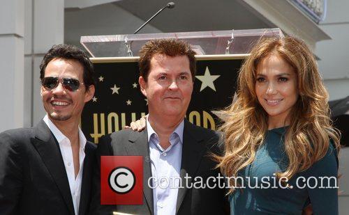 Marc Anthony, Jennifer Lopez and Simon Fuller 1