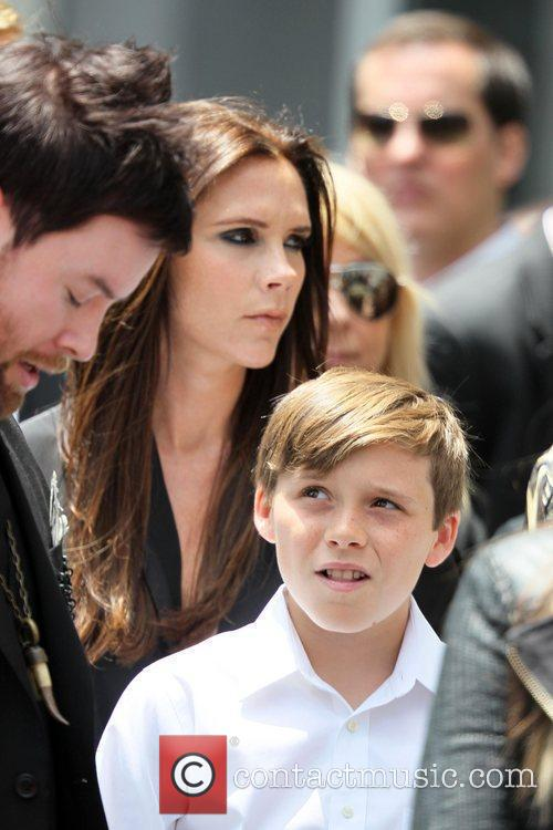 David Cook, Victoria Beckham and her son Brooklyn...