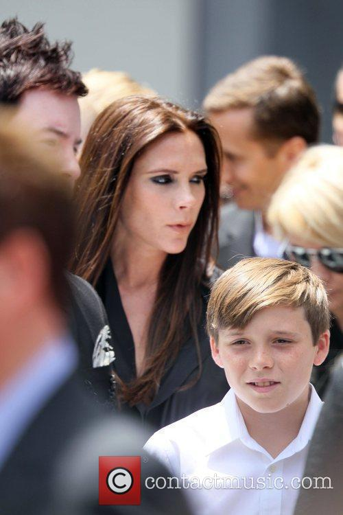 Victoria Beckham and Brooklyn 10